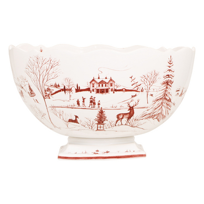 The tradition of setting a Thanksgiving table with fine English transferware depicting the holiday bird or other pastoral scenes is almost as old as Abraham Lincoln's proclamation of an official Thanksgiving Day. In the aesthetic tradition of these transfer-printed pieces, Juliska's COUNTRY ESTATE CENTERPIECE BOWL ($398) recalls the charm of English country life in a decal hand-painted by Isis Ceramics' designer Deborah Sears and applied to hardy stoneware. Fill it with pine cones, apples or pomegranates — or let is sit majestically untouched at the center of the table. The Italian Dish, Birmingham (248-593-8299; the italiandish.com).