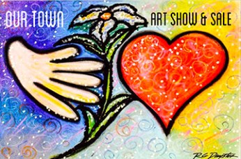 Logo for Our Town Art Show, by Robert Dempster, Bloomfield Hills.