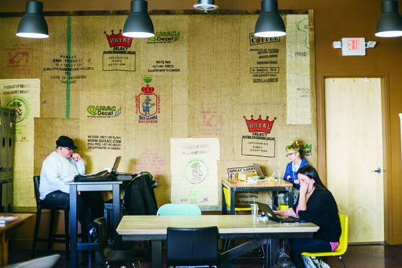 Many local professionals head to Royal Oak to do business at the Office Coffee Shop, designed for people who want to get work done in a creative atmosphere.