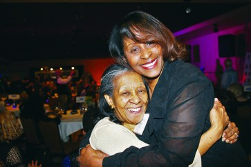 Chrystal Knight from WWJ News Radio 950 and her mom