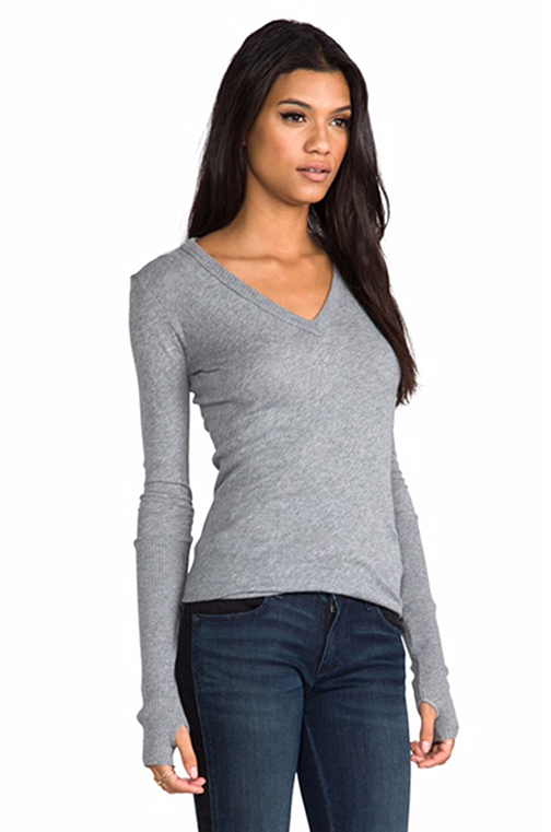 Perfect pairing with jeans, Enza Costa cashmere and cotton sweater with thumbhole details, $155, available in many colors at SHE boutique.