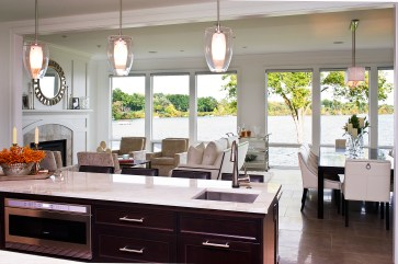 The Smith home features a welcoming, open floor plan with spectacular views of Orchard Lake.