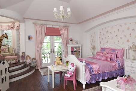 The raised platform in this young child's room can be converted into a study alcove when the child gets older. Photos courtesy of House of Bedroom Kids.