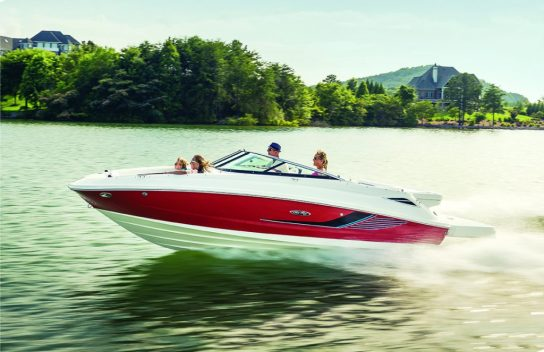 Sea Ray 220 Sundeck, MSRP: $63,050.
