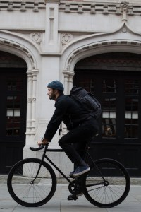 Riding around London with the Millican roll top