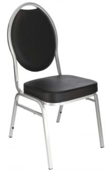Chaise Hôtel Noir Alu