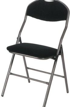 Chaise Pliante noire de luxe