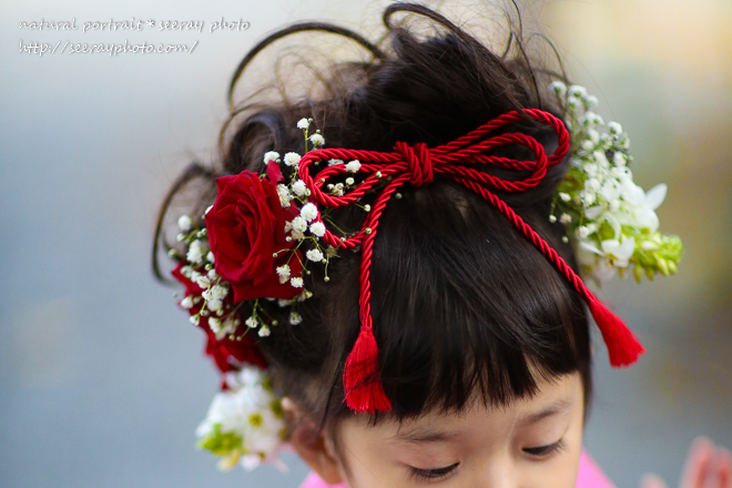 Seven-five-three-year-old flower hair ornament