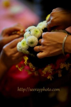 生花コサージュの髪飾り