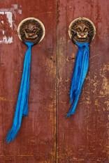 Temple Door Lion Head
