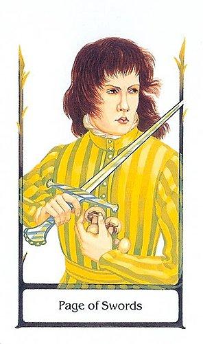 古徑塔羅小牌旅程之寶劍侍者