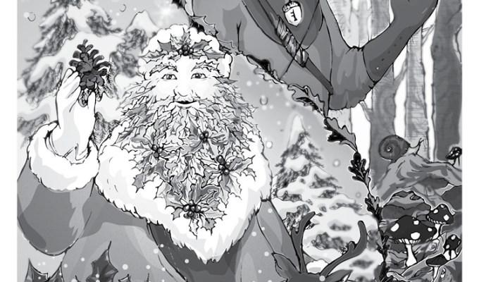【魔法手帳誌】2017年12月‧凱爾特男神⊕冬青王與橡樹王 Holly King and Oak King