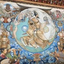 超厲害的壁畫,傳統與現代的藝術結合。
