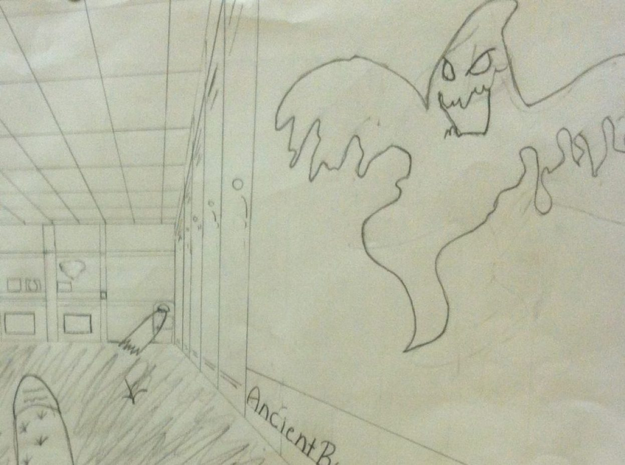 When a seer draws what he sees at school.