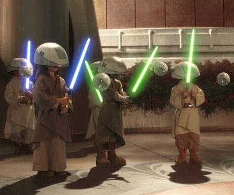 Younglings training to be Jedi.