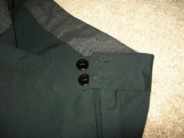 Zipper and button closure