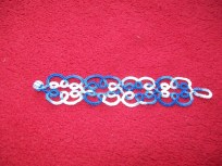Bracelet in blue/white multi