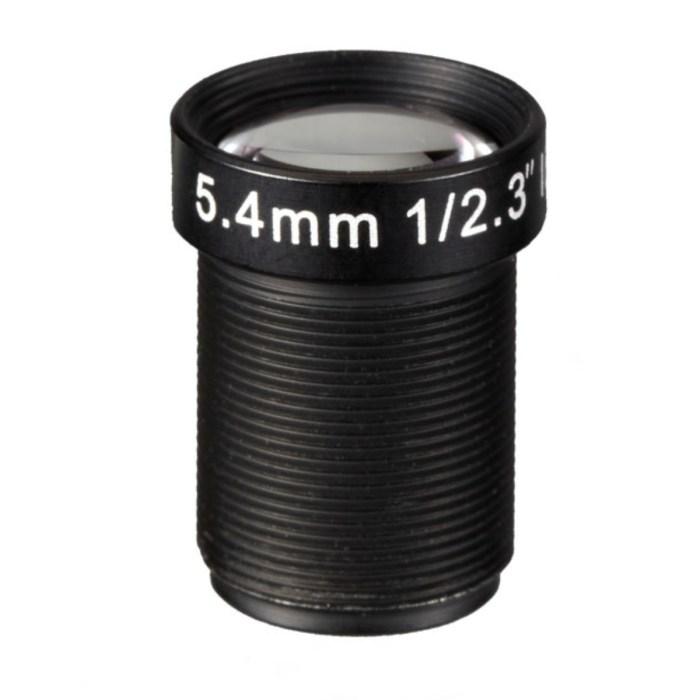 5.4mm 10MP 4K F2.5 M12 Lens