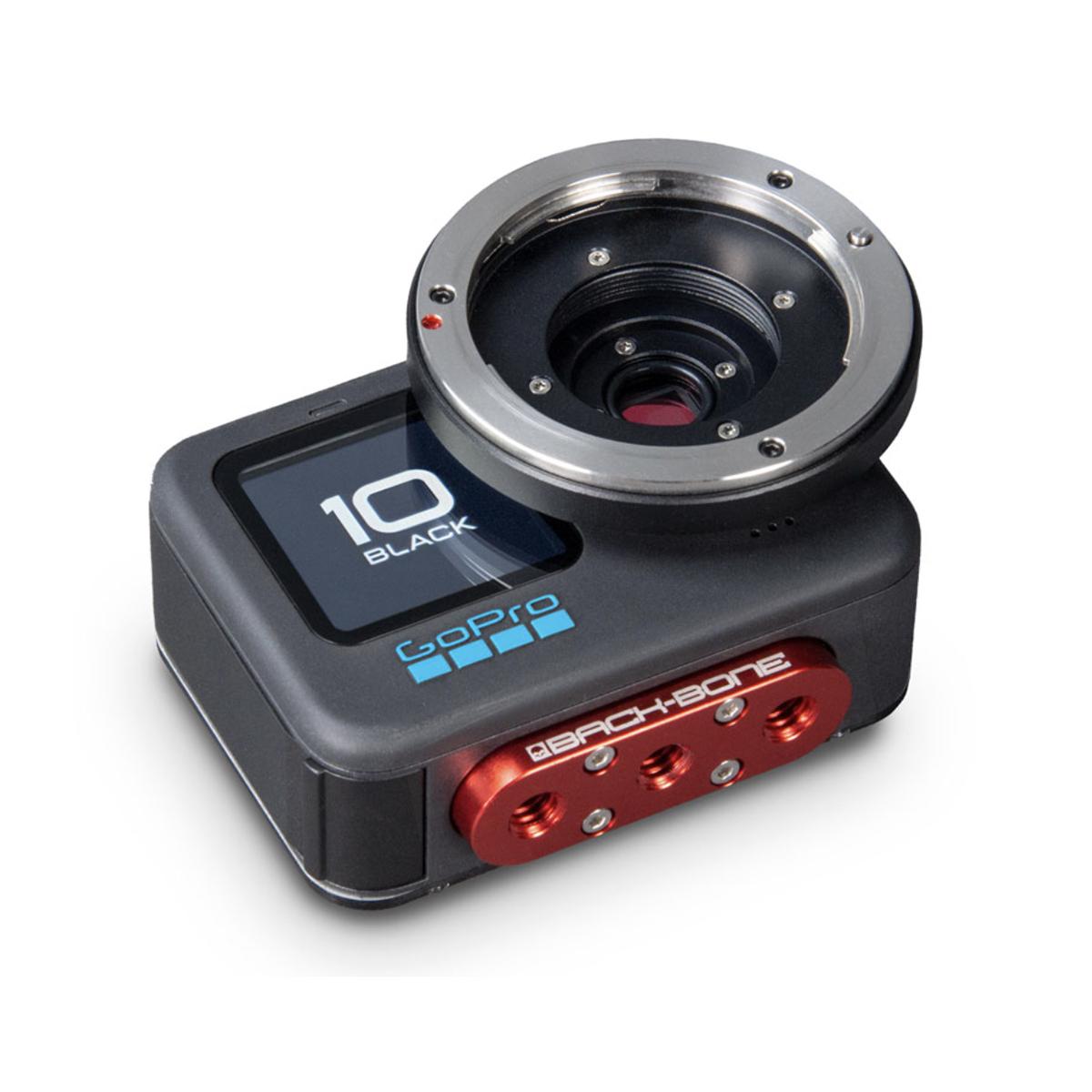 Back-Bone H10PRO Camera showing MFT lens mount and tripod mount