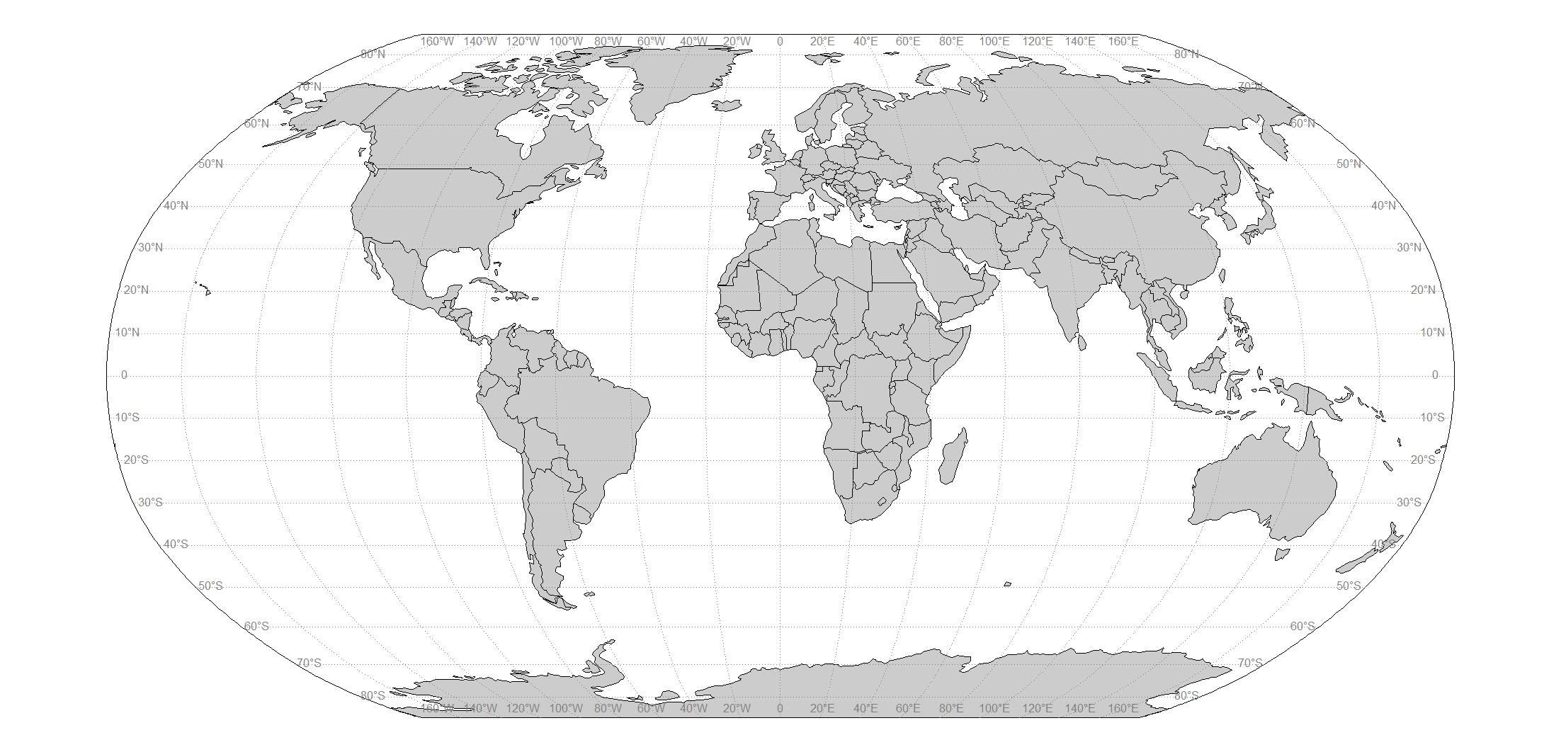 R Simple World Map Robinson Ggplot See The Data