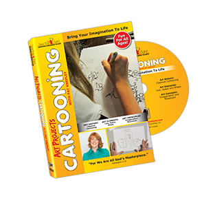 Art Projects: Cartooning DVD cover