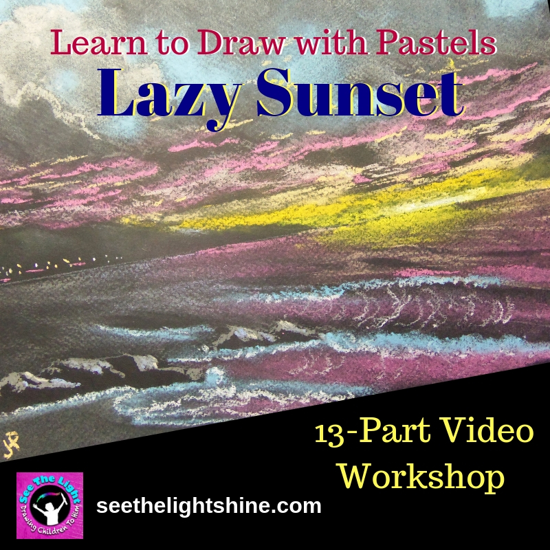 Lazy Sunset pastel workshop product image