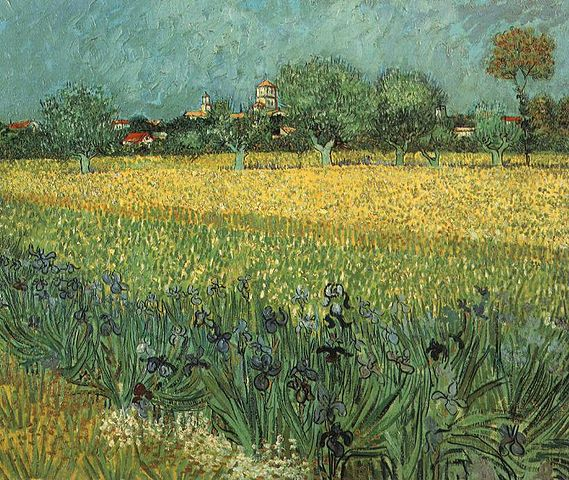 Van Gogh - View of Arles with Irises