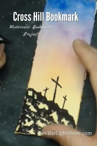 Watercolor Bookmark Art Project. See the Light Art