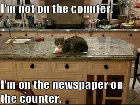 I am not on the counter