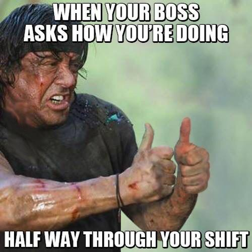 when your boss asks you hows it going