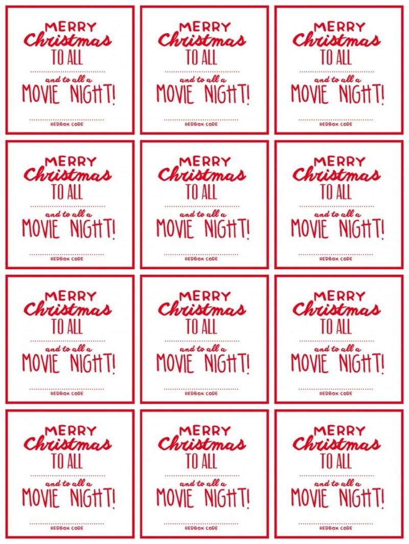 Christmas Movie Night Redbox Gift Idea See Vanessa Craft