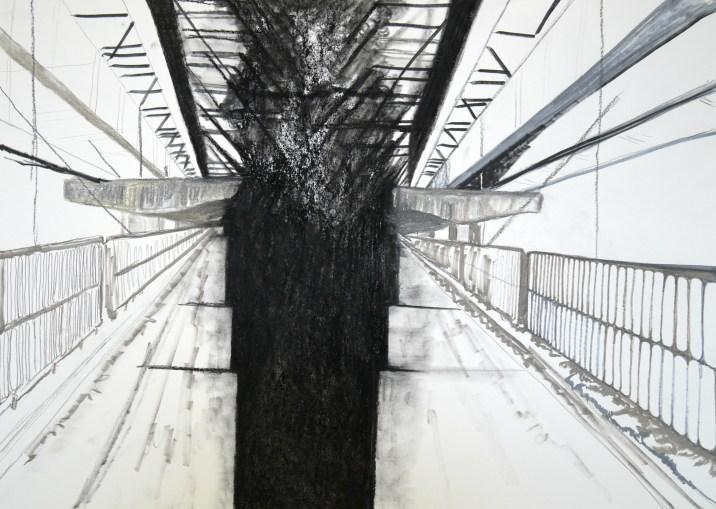 Bridges VII, 2016, drawing
