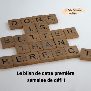 Read more about the article Le bilan de cette première semaine de défi
