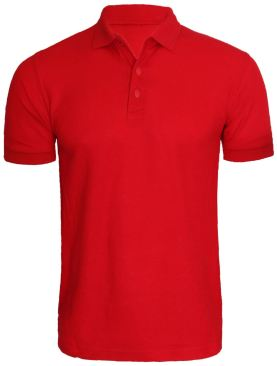 Men's short sleeved polo t shirt-Red
