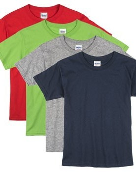 4 pack kids round neck t shirts.