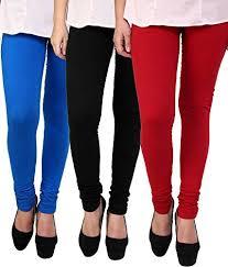 3 Pack cotton leggings-Blue|Black|Red.