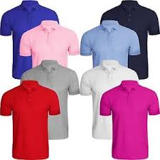8 pack cotton polo t shirts.
