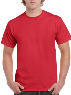Men's short sleeved round neck t shirt-Maroon.