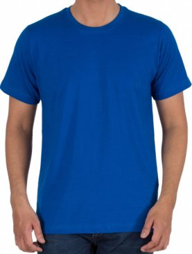 Men's round neck short sleeved t shirt-Royal Blue