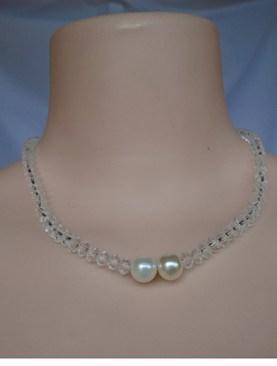 Women's stylish choker necklaces-Ivory beads.