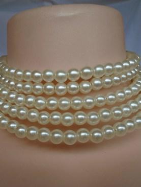 Women's classy ivory bead chokers.