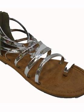 Women's stylish open shoes-Silver.