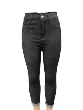 Women's fancy denim jeans-Black.