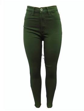 Women's fancy jeans-Army Green.