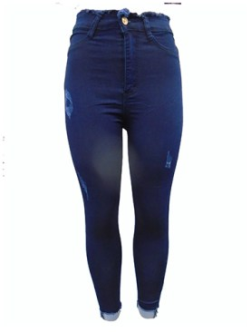 Women's classy denim jeans-Blue.