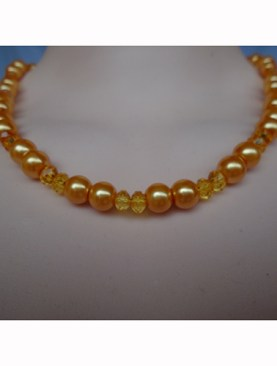 Women's classy bead necklaces-Orange.