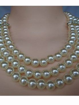 Women's ivory bead necklaces.