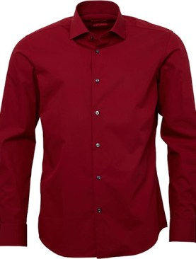 Men's classic long sleeved shirts-Maroon.