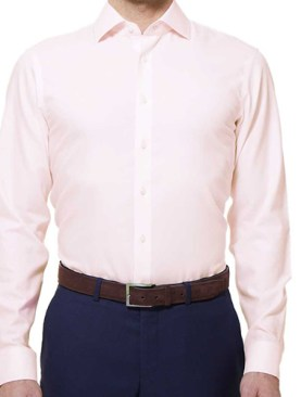 Men's long sleeved formal shirts-Light Pink.