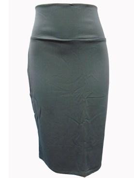 Women's short classy high waist skirts-Grey.